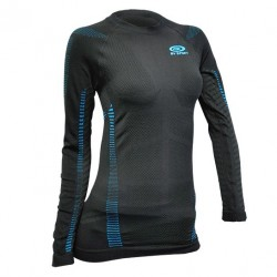 Women long sleeves technical top Black/Blue