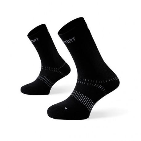 "Double ""WINTER"" Sock TREK Black"