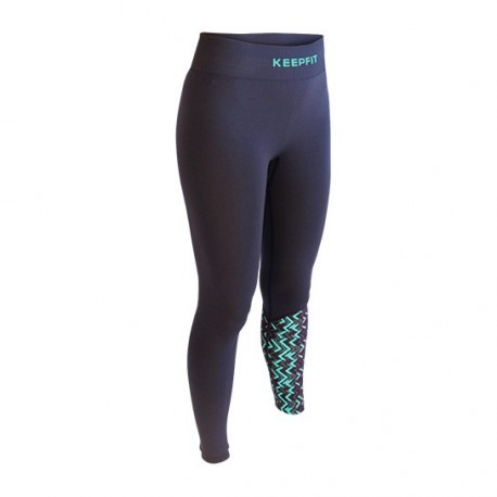 Pantalone sport anti-cellulite OSLO KEEPFIT blu-verde | Collector edition