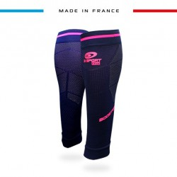 Calf sleeves Booster Elite EVO2 night blue-pink