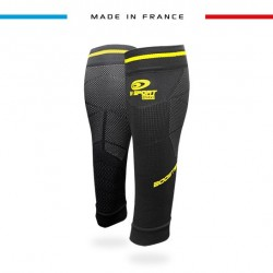 Calf sleeves Booster Elite EVO2 black-yellow