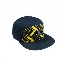 casquette Flatcap OSLO bleu-jaune