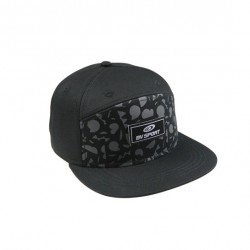 Flatcap GRAFIK black-grey