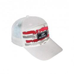 cappucci Trucker ARMY bianco-rosso