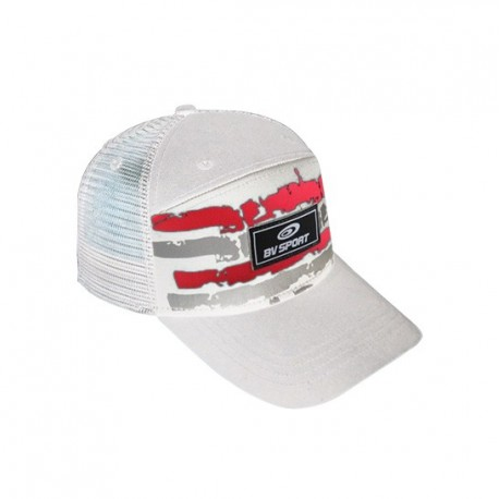 casquette Trucker ARMY blanc-rouge