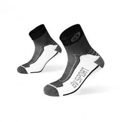 """Socquettes DOUBLE """"Polyamide"""" Randonnée noir-gris"""