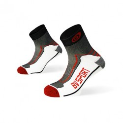 "Double ""polyamid"" TREK ankle Socks black-red"