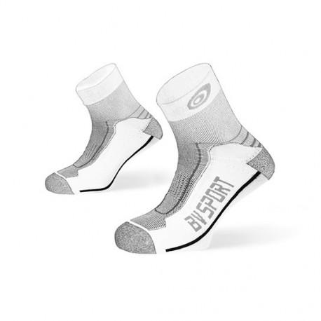 """Socquettes DOUBLE """"Polyamide"""" Randonnée blanc-gris"""