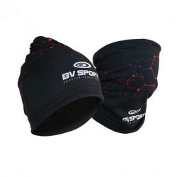 Bonnet multifonctions noir-rouge