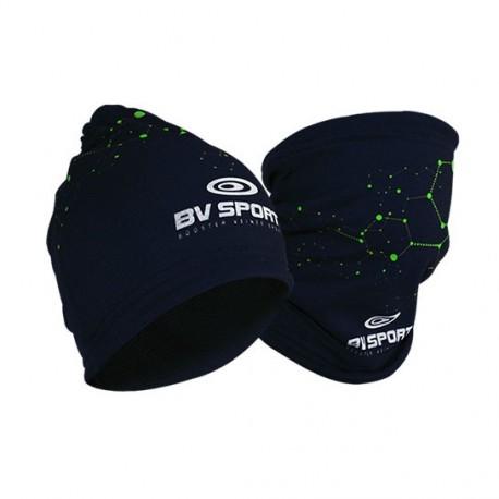 Bonnet multifonctions bleu nuit-vert