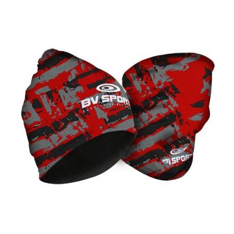 Bonnet multifonctions army noir-rouge