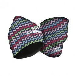 Bonnet multifonctions nairobi bleu-rose