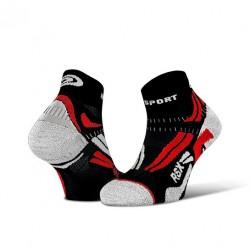 Socquette RSX EVO Noir/rouge