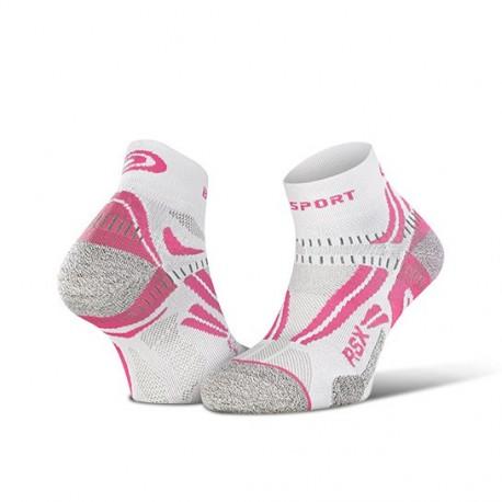 Calza corta RSX EVO Bianco/Rosa
