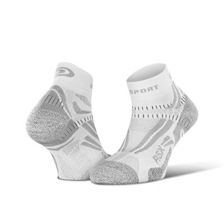 Calza corta RSX EVO Bianco/Grigio