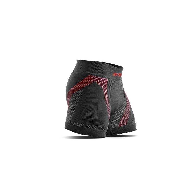 BV SPORT | Boxer RTECH homme noir rouge | Sous vêtement