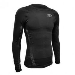 T-shirt compressione RTECH manica lunga nero-grigio
