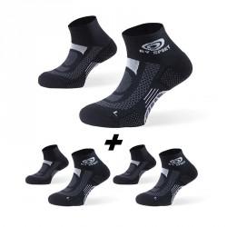 Pack x3 | Ankle socks SCR ONE black