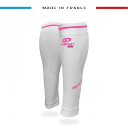 Calf sleeves Booster Elite EVO2 - Pachuca white-pink