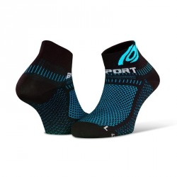 Socquettes Light 3D noir-bleu