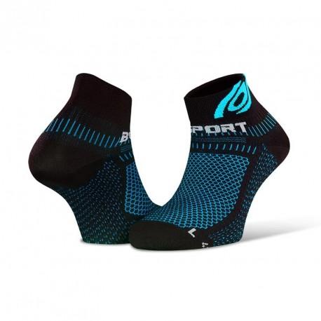 Socquettes Light 3D noir-bleu