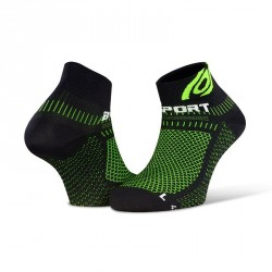 Socquettes Light 3D noir-vert