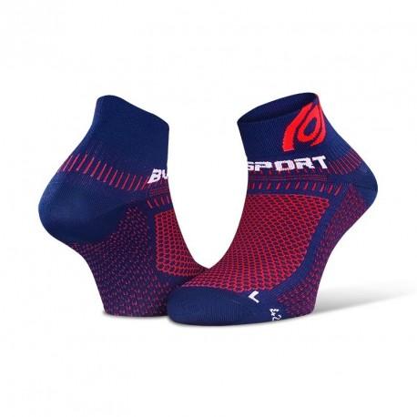 Socquettes Light 3D bleu-rouge