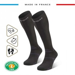 Hiking_socks_TREK_compression_EVO_black-grey