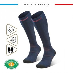 Hiking_socks_TREK_compression_EVO_blue-red