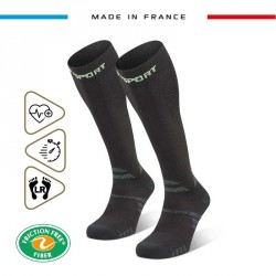 Hiking_socks_TREK_compression_EVO_black-green