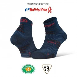 Socquettes_randonnée_TREK_EVO_bleu-rouge