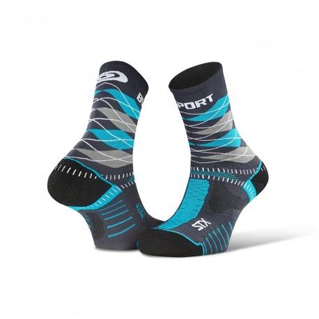 "STX EVO_socks_""Burlington""_grey-blue - Collector Edition"