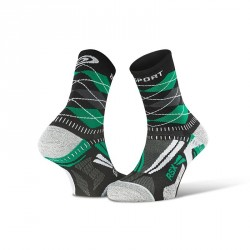 Calza_running_RSX_EVO_burlington_nero/verde - collector_edition