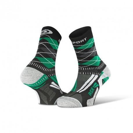 Chaussettes_running_RSX_EVO_burlington_noir/vert - collector_edition