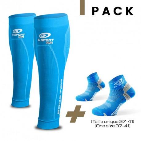 Pack Booster Elite bleu + Light one bleu 37-41