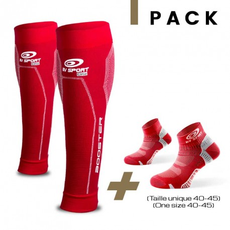 Pack Booster Elite rouge + Light one rouge 40-45