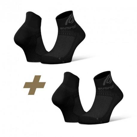 Pack x2 Ankle socks Light 3D black/black