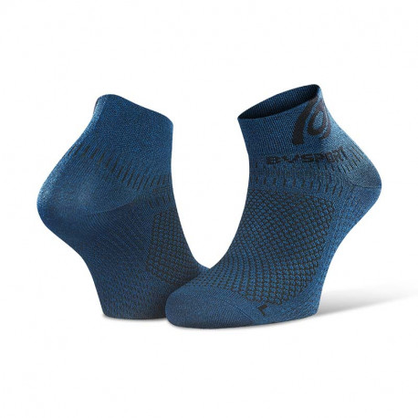 Socquettes running Light 3D bleu chiné - Mix