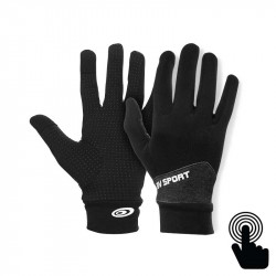 Touch Gloves Light-run mix black-heather grey