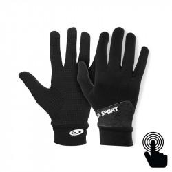 Gants tactiles Light-Run Mix noir-gris chiné