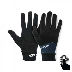 Touch Gloves Light-run mix black-heather blue