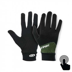 Touch Gloves Light-run mix black-heather khaki