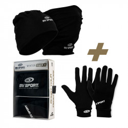 Winter pack | Beanie-Neck warmer + touch gloves black