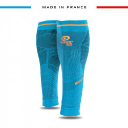 Calf_compression_sleeves_Booster_Elite_EVO2_turquoise_blue/orange