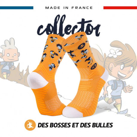 Chaussettes orange TRAIL ULTRA - Collector DBDB | Made in France