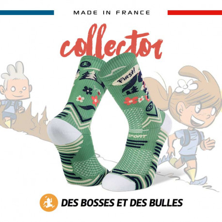 TRAIL ULTRA green socks - Collector DBDB | Made in France