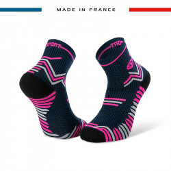 TRAIL ULTRA blue-pink socks | Made in France