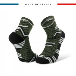 TRAIL ULTRA khaki green-black socks | Made in France