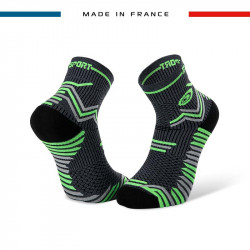 TRAIL ULTRA grey-green socks | Made in France