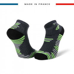 TRAIL ELITE grey-green ankle socks | Made in France